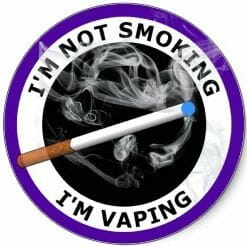 Vaping Not Smoking